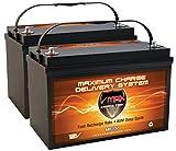 QTY2 VMAX MR137-120 12V 120AH AGM Deep Cycle Group 31 Batteries for 24 Volt 24V 75 Pound 75lb Thrust Trolling Motors