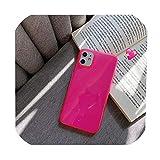 ネオンカラー電話ケースiphone 11プロマックスXR X XSマックス7 8プラスバックカバー高級透明ソフトバンパーケース、iphone11Proマックス、スタイル3