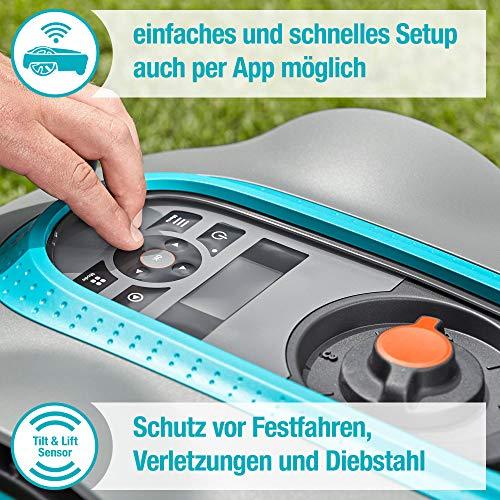 Gardena smart Sileno Set city 500: Mähroboter bis 500 m² Rasenfläche mit App Steuerung - 4