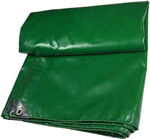 PENGJUN Bache imperméable d'antigel imperméable à l'eau de bache Verte auvent bache résistante 600g   m2, 0.5mm Il est largement utilisé