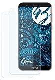 Bruni Schutzfolie kompatibel mit TP-Link Neffos C5 Plus Folie, glasklare Displayschutzfolie (2X)