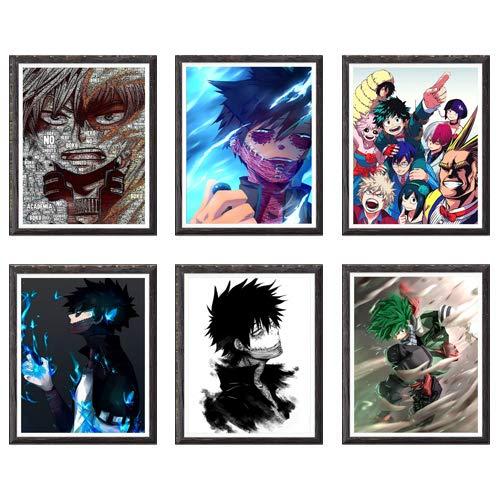 Poster da parete 20,3 x 25,4 cm, senza cornice My Hero Academia Ice and Fire Shouto Dabi Izuku
