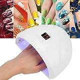 Wosume Lampada per Unghie UV 36W, Intelligente LED UV per Smalto per Unghie Lampada per asciugatrice per Unghie Fashion Manicure Machine Manicure Tool(Bianca)
