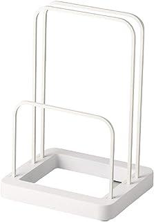 パール金属 珪藻土 バスマット & 体重計 収納 スタンド ホワイト シンプルピュア HB-4022