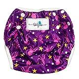 Babyino wiederverwendbare Schwimm-Windel   Bade-Hose für Babys und Kleinkinder (Lila Octopus) 6 bis 24 Monate Verstellbare Größe mitwachsende Schwimm-Kleidung