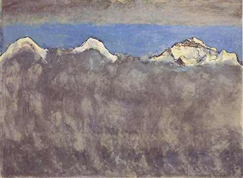 The Museum Outlet – Eiger, Monch und Jungfrau Uber dem Nebelmeer, 1908 – A3 Poster