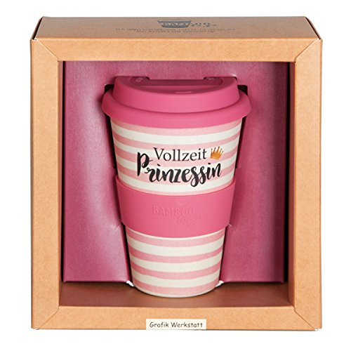 Grafik Werkstatt // Bambusbecher // Kaffeebecher // Coffee-to-Go // Trinkbecher // 400 ml // Bamboo-to-go // Vollzeit Prinzessin