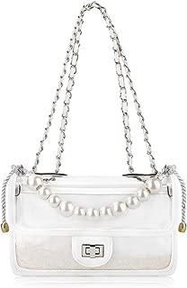 Olyphy Designer Shoulder Bag for Women Transparent Clear Handbag PVC Waterproof Crossbody Bag Set