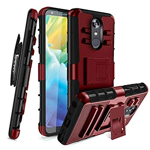LG Stylo 4 Case, Stylo 4 Plus Case W/[Tempered Glass Screen Protector]...