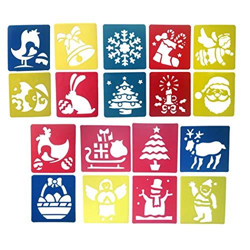zoohot Stencil di Natale e disegnare Arte per Bambini