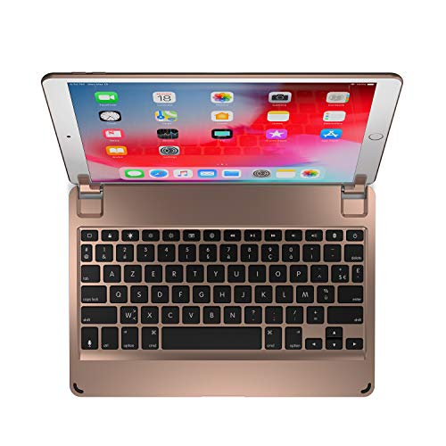 Brydge 10.5 Wireless Keyboard | Compatible with iPad Air (2019) and iPad Pro 10.5-inch (2017) | (Gold) (French Layout)