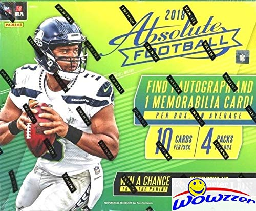 2018 Panini Absolute Football EXCLUSIVE Factory Sealed MEGA Box with TWO(2) AUTOGRAPH or MEMORABILIA Cards! Look for RCs & Autos of LAMAR JACKSON, Baker Mayfield, Saquon Barkley & Many More! WOWZZER!