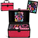 Lil Me Pretend Play Makeup for Princess Girl Deluxe Cosmetic Set in Sturdy Hot Pink Travel Case, Non-Toxic, Washable Make up Kit