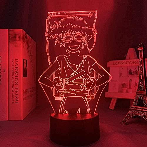 Tatapai Lámpara de ilusión 3D LED Luz de Noche Sensor Táctil en Forma de Control Zapatillas de deporte Zapatos de los Niños Presente Escritorio Colorido Brillante Base con Control Remoto-N38