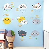 Cartoon Cute Children 'S Room Nursery Aula Decoración Room Boy Girl Clima Expresión Pegatinas Pegatinas de Pared