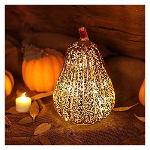 Bhuatk Calabaza de Cristal LED de luz brillando delicados Fiesta lámpara Decorativa de Halloween for Acción de Gracias caída de Halloween Decoración