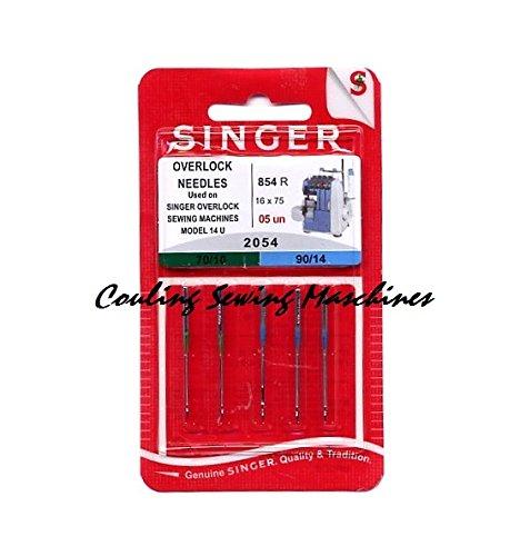 Singer Overlocknadeln 2054 Mix 5er Nadel, Metall, Silber, 0,1 x 0,1 x 4 cm, 5-Einheiten