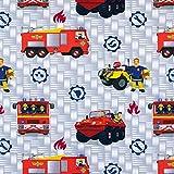 Baumwolljersey Feuerwehrmann Sam & Jupiter Lizenzstoff -