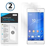 Sony Xperia Z3 Screen Protector, BoxWave [ClearTouch Crystal (2-Pack)] HD Film Skin - Shields from Scratches for Sony Xperia Z3
