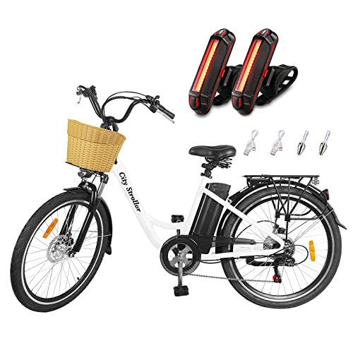 Electric Bikes for Adults,26' 350W 36V/12.5Ah Removable Battery Electric Bicycle for Women E-Bike NAKTO Electric City Bike Mens Commuting EBike with...