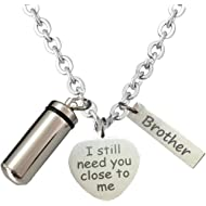 BGAFLOVE I Still Need You Close to Me Cremation Jewelry for Ashes for Women Men Urn Necklace...