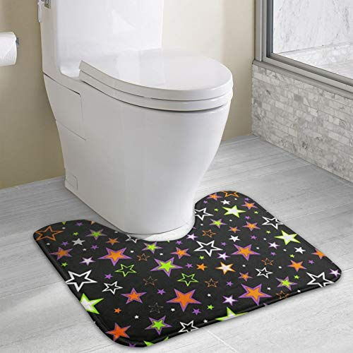Halloween Star Fabric Area Rugs Toilet mat U Type pad Thicken Non-Slip Floor mat Bathroom Absorbent pad Fashion Home Decoration