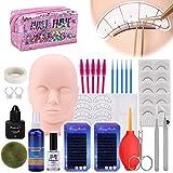Kit De Extensión De Pestañas MYSWEETY, Entrenamiento De Cabeza De Maniquí Profesional Para Principiantes Extensiones De Pestañas Practique Cosmetología Estétic