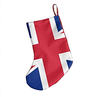 Bralla Union Jack 18-Inch Christmas Holiday Stockings