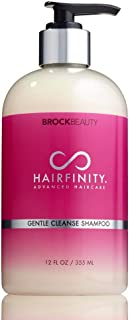 Hairfinity Gentle Cleanse Shampoo - Sulfate and Silicone Free - Best for Damaged, Dry, Curly or Frizzy Hair - Thickening for Fine/Thin Hair Safe for Color and Keratin Treated Hair