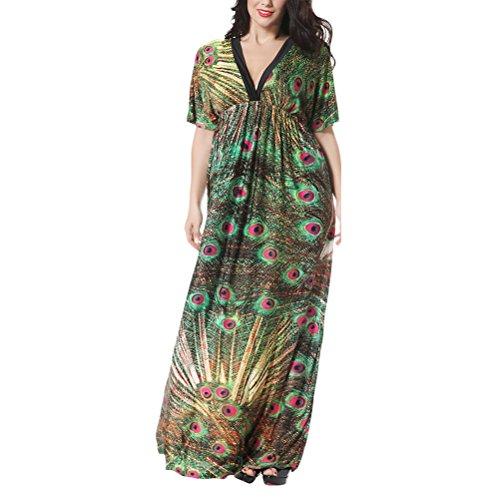 Zhuhaitf Boho Stil Strand Aufdecken Tunika Kaftan-Morgenmantel Kleider für Frauen Islamisch Marokkanisch Türkisch Robe