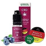 Premium CBD Liquid Blueberry Kush de Breathe Organics® | CBD Liquid 600 mg | Cannabidiol 600 mg | Cantidad 10 ml | VG max | libre de nicotina | Hecho en alemania | Terpenos 100% naturales.