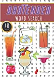 Bartender Word Search: Bartending Word Search Book | 40 Fun Puzzles With Words Scramble for Adults and Seniors | More than 300 Bartenders Words On ... Cocktails Recipes Vocabulary | Barman Gift