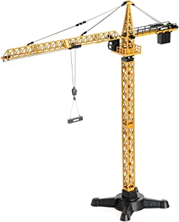duturpo 1/50 Scale Diecast Tower Crane, Metal Construction Vehicles Model Toy for Kids (Tower Crane)