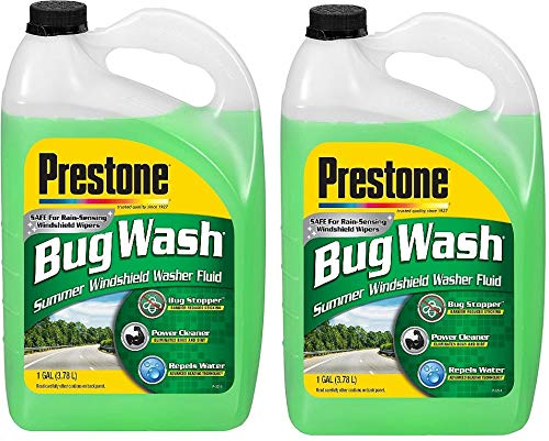 Prestone AS657 Bug Wash Windshield Washer Fluid, 1 Gallon (Pack of 2)