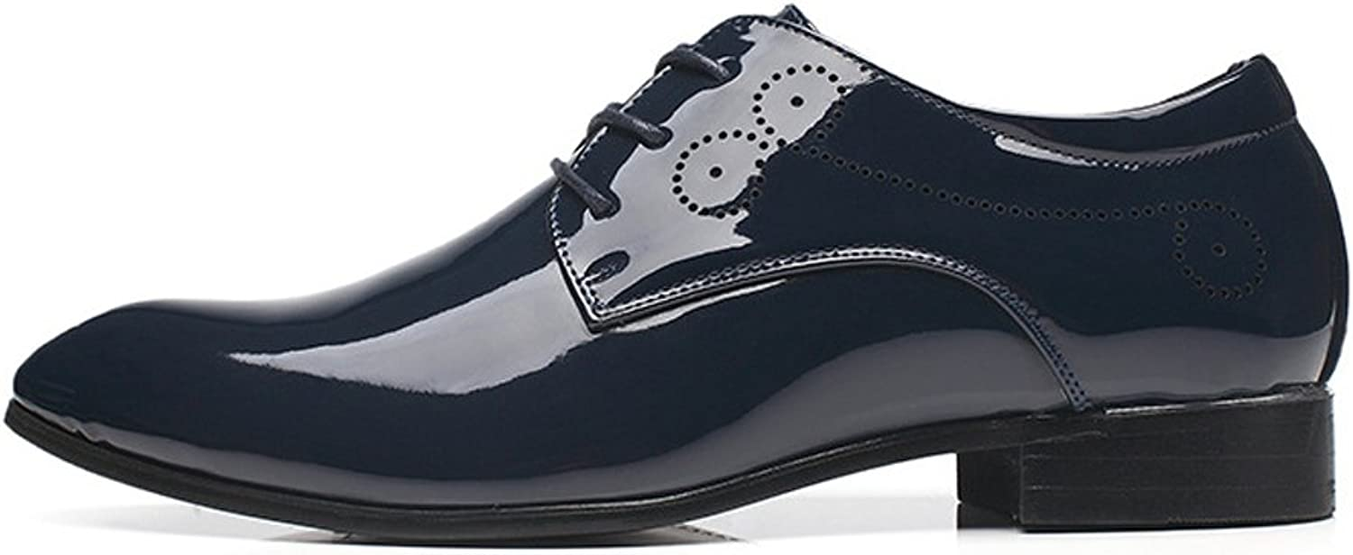 Z.L.F Men's Burnished Smooth PU Leather shoes Classic Lace Up Tuxedo Oxfords