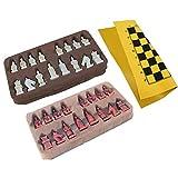 BSTEle Juego de ajedrez de terracotta Warriors de resina con tablero de ajedrez de cuero para coleccionables y regalos de entretenimiento