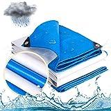 Lona a prueba de rasgaduras y roturas, Lona impermeable for muebles de exterior, UV multiuso resistente, de tela impermeable tienda del pabellón, barco, RV o bordes de la piscina cubierta reforzados