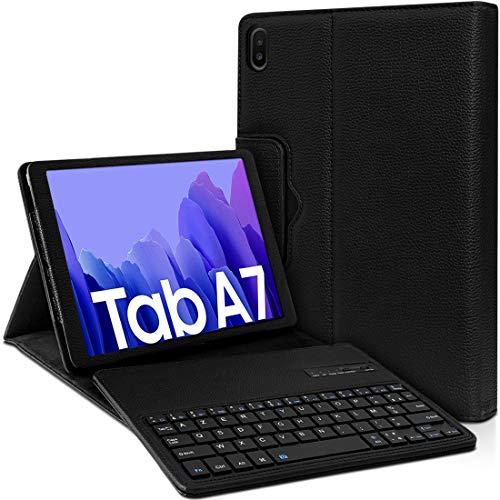Karylax - Funda de protección con teclado Bluetooth para tablet Samsung Galaxy Tab A7 10.4 SM-T500, color negro