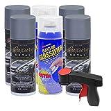 Plasti Dip Rim Kit: 4 Aerosol Cans Luxury Selenite Gray Metallic, 2 Aerosol Cans Glossifier, 1 Cangun …