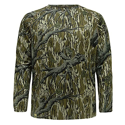 Mossy Oak Men's Standard Hunting Shirt Camo Clothes Long Sleeve, Original Treestand, 2X