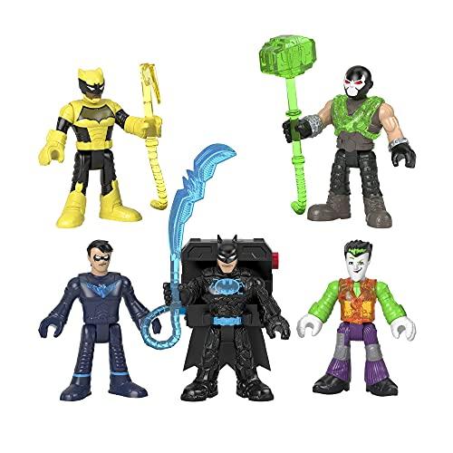 Imaginext DC Pack 5 figuras Batman Tech Muñecos personaje de juguete, regalo para niños +3 años (Mattel GXD67)