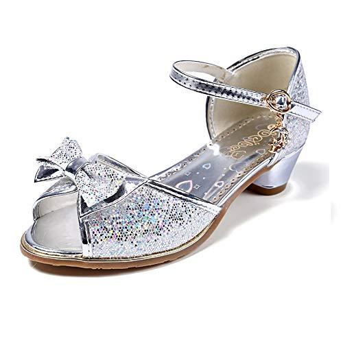WQBB Prinzessin Mädchenschuhe, Prinzessin Ballerinas Kinder Schuhe,Weich und angenehm zu tragen Geeignet zum Tragen mit Anderen Kostüme und Party Kostüm Outfit in Allen Gelegenheiten,Rosa,EU28