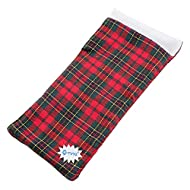 E-TING Sleeping Bag Christmas Accessory for Elf Doll (Doll is not Included) (Red-Green Plaid)