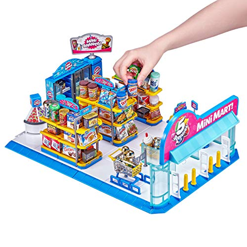 ZURU 5 SURPRISE 7798 Electronic Mart with 4 Mystery Playset-Brown Box...