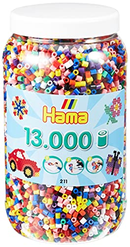 Hama 267 2110 - Barattolo di Perline, Colori Assortiti, 13.000 Pezzi