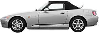 Sierra Auto Tops Convertible Soft Top Replacement, compatible with Honda S2000 2000-2001, w/Plastic Window, Twill Grain Vinyl, Black