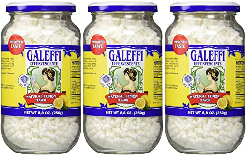 Galeffi, Effervescent Antacid, Natural Lemon Flavor 8.8 Oz (250g)-3 Pack Italy