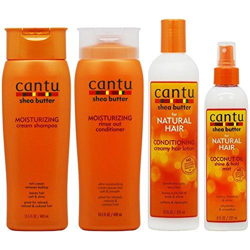 "Price comparison product image Cantu Moisturizing Shampoo + Rinse + Conditioning Creamy Lotion + Coconut Oil Mist""Set"""