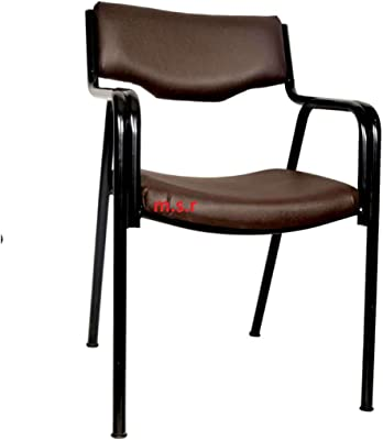 msr 105 Chair Metal Leg with Powder Coating Black