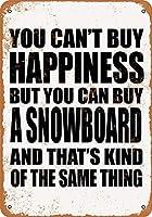 白い桜雑貨屋 看板 コカ 通販 レトロ ブリキ You Can't Buy Happiness But You Can Buy a Snowboard 壁飾 アンティーク メタル レトロ 看板 販売(20x30cm)